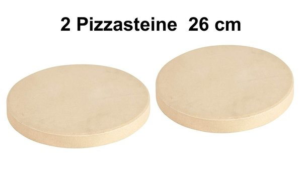 ALL'GRILL Pizzastein, rund Ø 26cm  2 er Pack